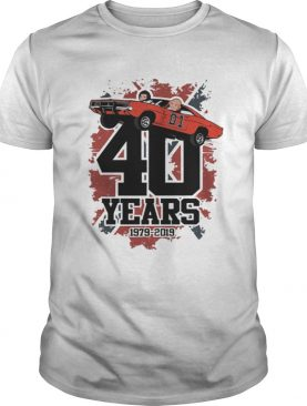 The Dukes Of Hazzard 40 Years 19792019 shirt