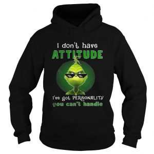 Grinch I dont have attitude Ive got personality shirt Ladies V-Neck