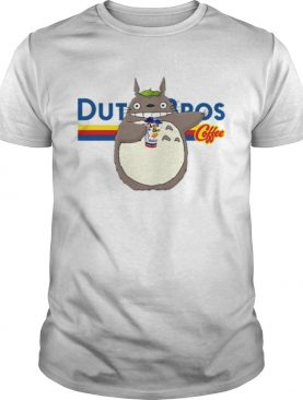 Totoro drinking Dutch Bros coffee shirt