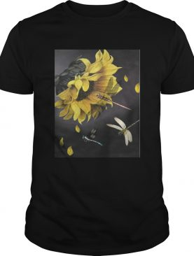 Sunflower and dragonfly TShirt