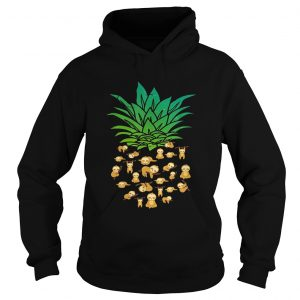 Sloth Pineapple shirt Ladies V-Neck