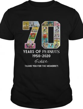 70 years of Peanuts 19502020 schulz thank you for the memories shirt