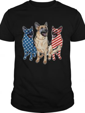 German Shepherd Flag T-shirt