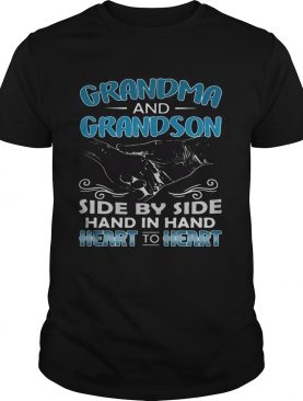 Grandma and Grandson side by side hand in hand tshirt