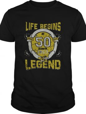 Life begins at 50 born in 1969 the year of the legend Unisex adult tshirt
