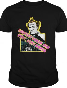 Vyvyan Young Ones 80s Tribute Punk Im very sober and very very bored shirt