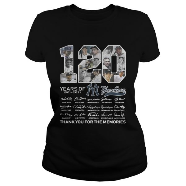 120 years of New York Yankees signature thank you for the Classic Ladies