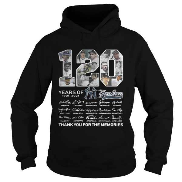 120 years of New York Yankees signature thank you for the Hoodie