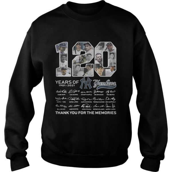 120 years of New York Yankees signature thank you for the Sweatshirt