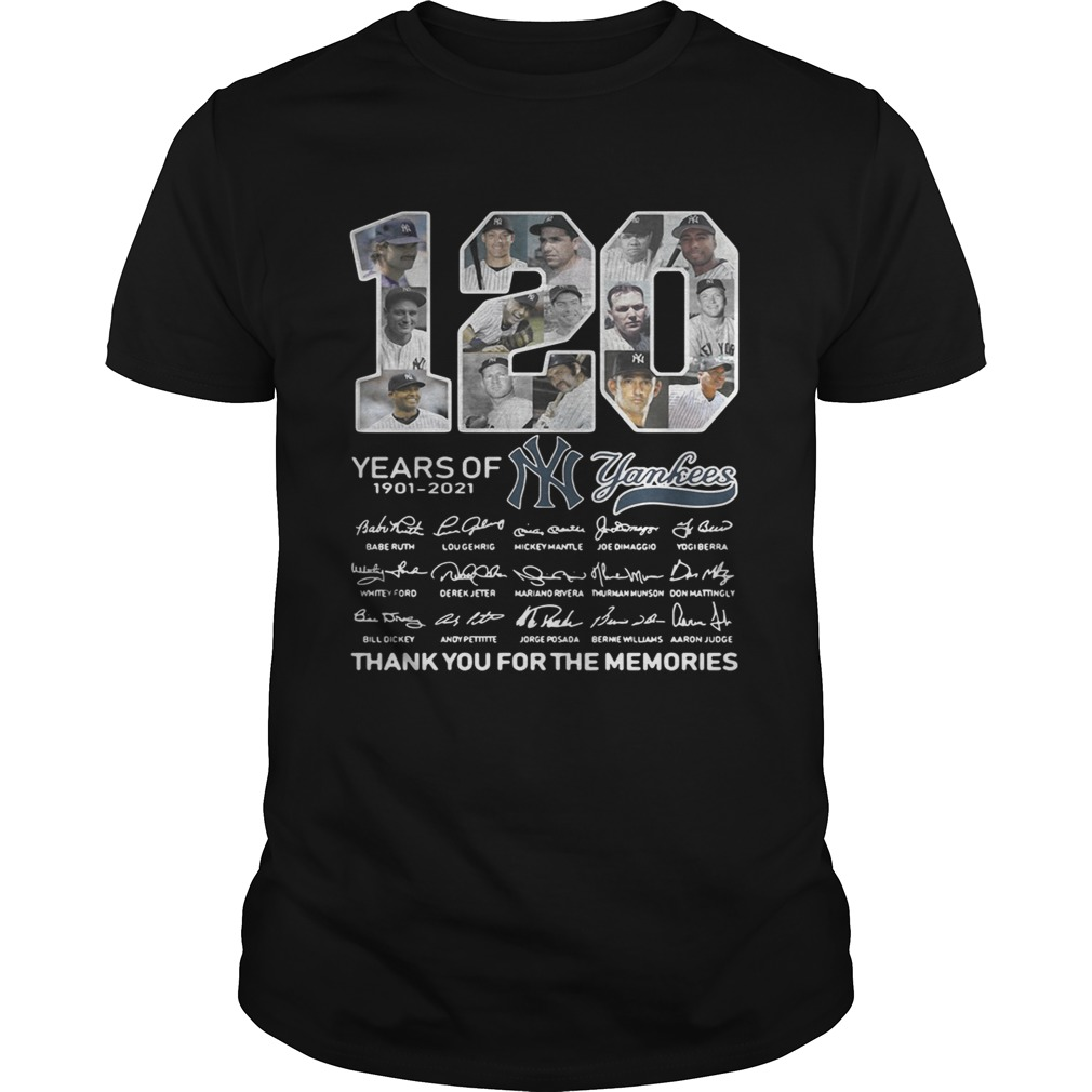 120 years of New York Yankees signature thank you for the Unisex