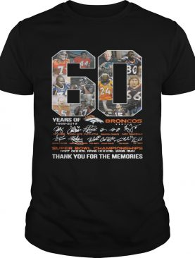 60 years of Denver Broncos signature Super Bowl Champions shirt