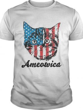 Ameowica Cat American flag shirt