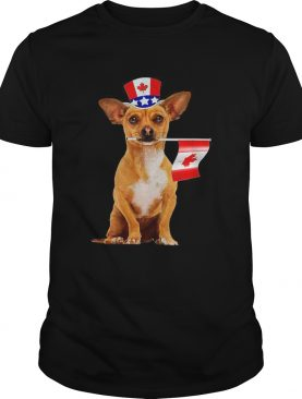 CanadaMaple Leaf Chihuahua Canadian Flags shirt