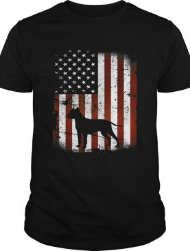 Dogo Argentino American Flag Dog 4th Of July shirt