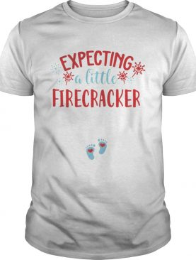 Expecting A Little Firecracker Funny Pregnancy Announcement 4th TShirt