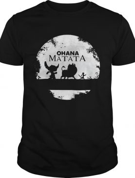 Ohana Matata Stitch Timon and Pumbaa The Lion King shirt