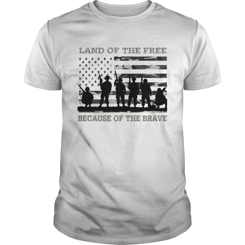 Veteran land of the free because of the brave American flag Unisex
