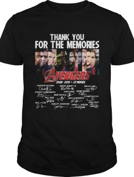 11 years of Avengers thank you for the memories shirt