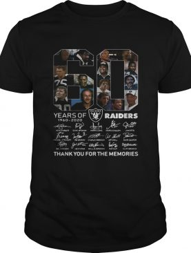 60 years of Oakland Raiders thank you for the memories shirt