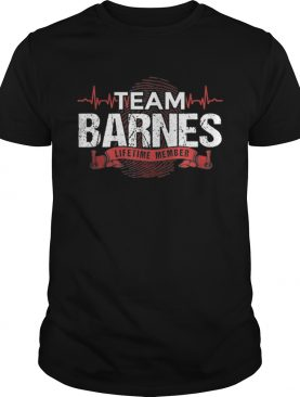 Awesome Barnes Team Family Reunions DNA Heartbeat shirt