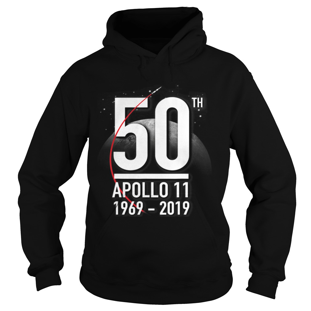Awesome Nasa Anniversary 50th Apollp 11 19692019 Moon Landing Hoodie