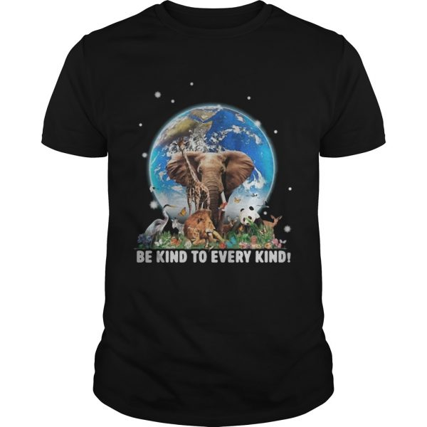 Elephant and other animals in the world be kind to every kind shirt