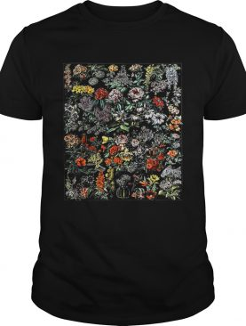 Floral Botanical Cactus Chart Flower Plant Wildflower shirt