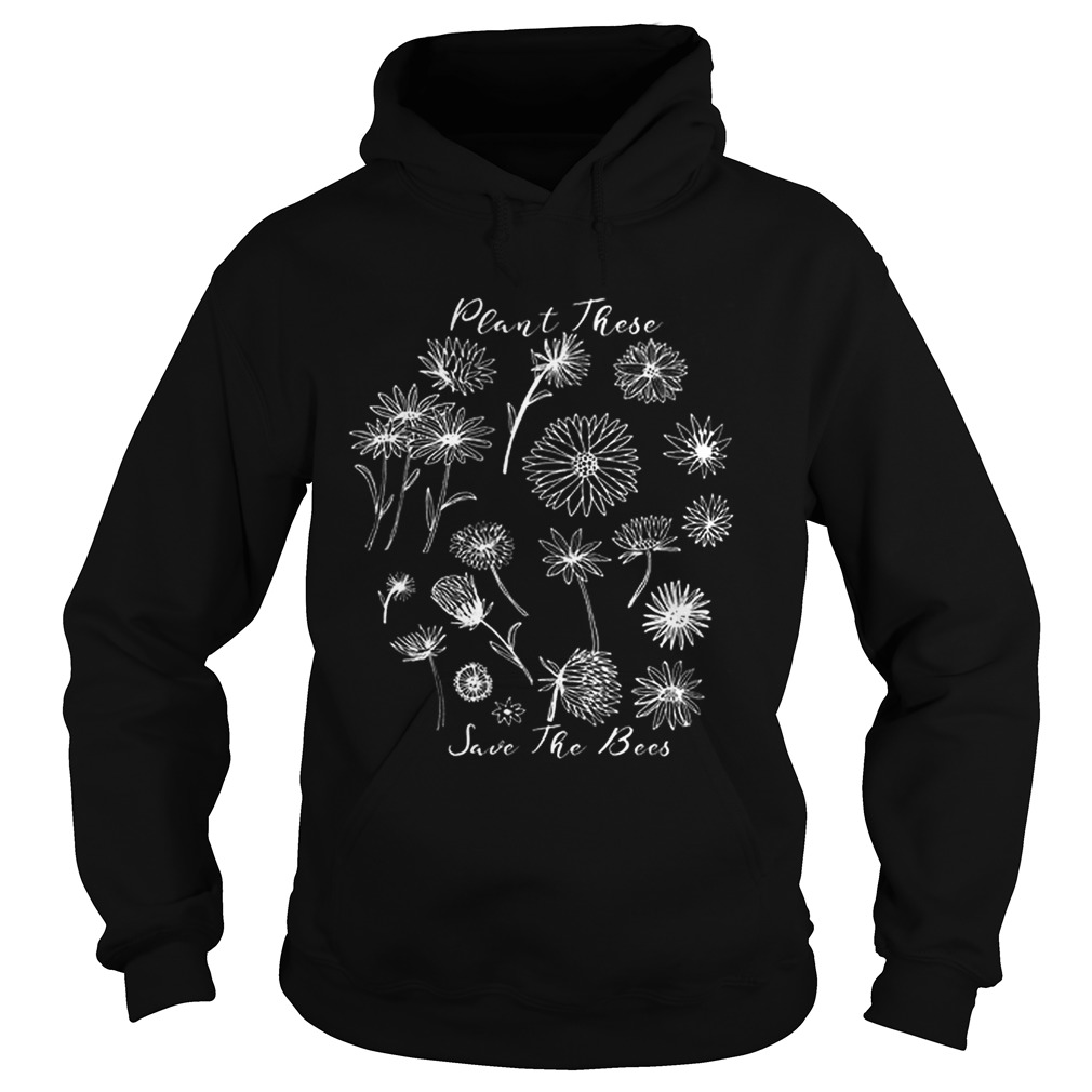 Floral Plant These Help The Bees Natural Beekeeper Hoodie
