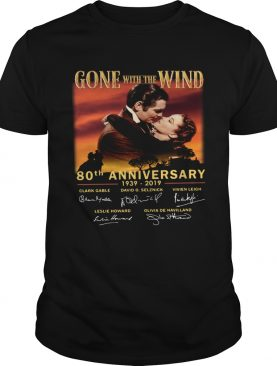 Gone With The Wind 80th Anniversary 19392019 signatures shirt