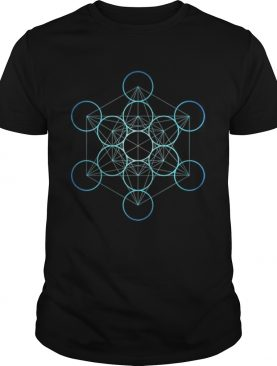 Pretty Sacred Geometry Indigo Metatrons Cube shirt