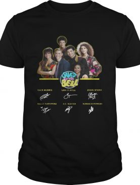 Saved by the Bell characters signature shirt