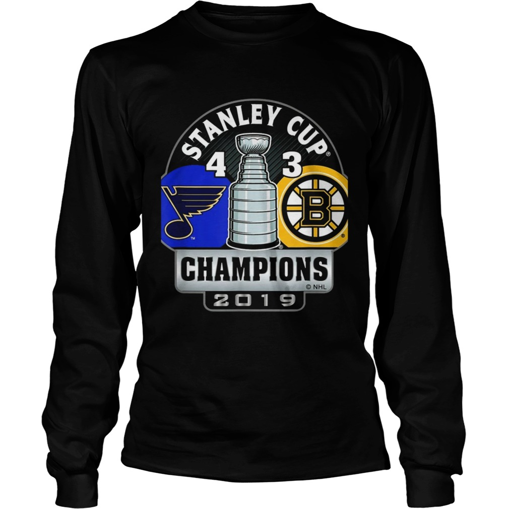 Stanley Cup champions St Louis Blues 4 3 Boston Bruins LongSleeve