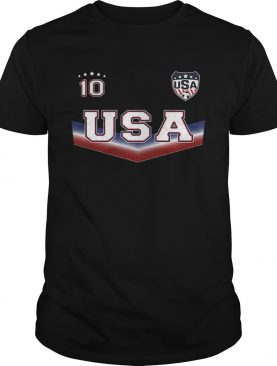 The United States womens national soccer team 10 shirt