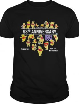 19262019 93rd anniversary Winnie the Pooh thank you for the memories shirt