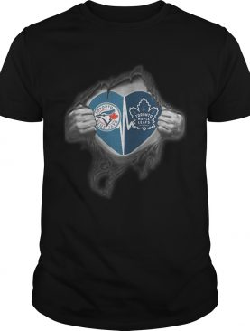 Blue Jays Maple Leafs Its in my heart inside me shirt