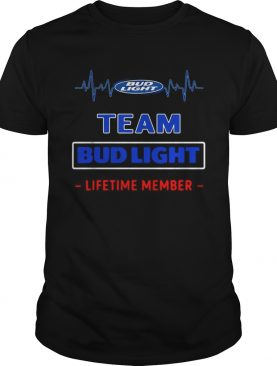 Bud Light team lifetime member heartbeat shirt