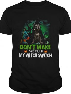 Dont Make Me Flip My Witch Smitch Neapolitan Mastiff Witch Lovers JackOLanterns Halloween Shirts