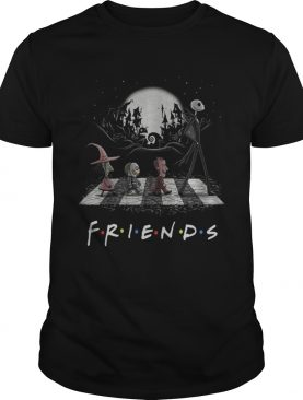 Friends TV show The Nightmare Before Christmas Abbey Road Halloween shirt