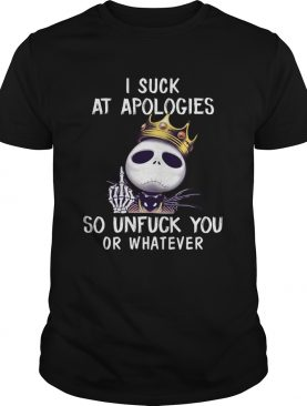 I suck at apologies so unfuck you or whatever Jack Skellington Biggie shirt