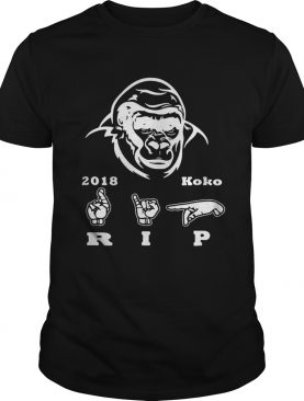 Koko Gorilla RIP 2018 sign language shirt