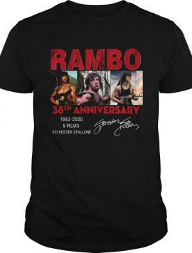 Rambo 38th anniversary 1982 2020 shirt