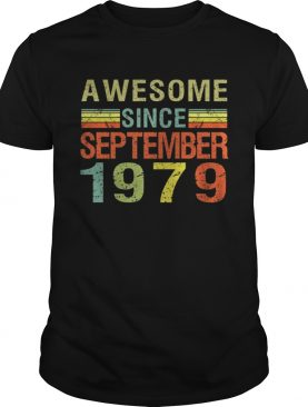 1569838187Born September 1979 Awesome 40 Bday Gift 40th Birthday T-Shirt