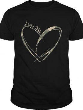 Army Wife Heart Tshirts