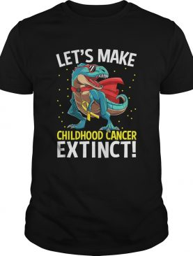 Dinosaur TRex Childhood Cancer Awareness Warrior Gift Shirt