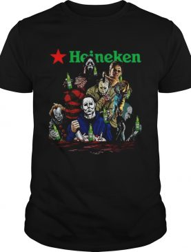 Horror character movie drink Heineken beer shirt