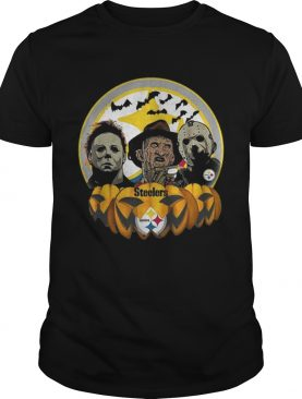 Horror movie characters Pittsburgh Steelers pumpkin shirt