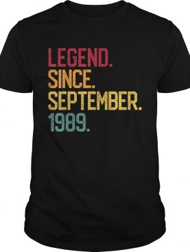 Legend Born September 1989 30 Years Old 30th Birthday Gifts T-Shirt