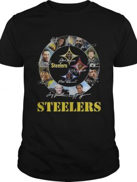Pittsburgh Steelers logo player names signed shirt