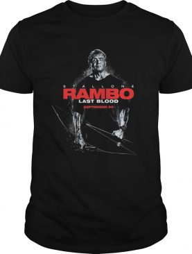 Stallone Rambo last blood September 20 shirt