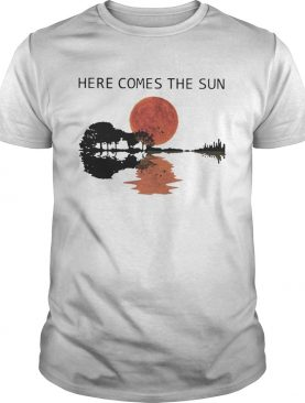 Sunset Guitar Water Reflection Here Comes The Sun Shirt